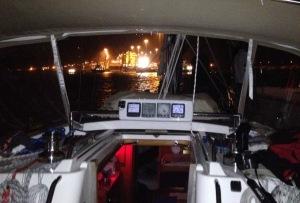 12. Joyful approached the Atlantic entrance (Gatun locks) to the Panama Canal.