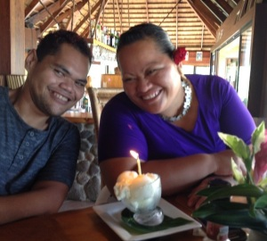 40. Emmanuel and Conchita celebrated their birthdays with us.  Happy birthday Emmanuel and Conchita!