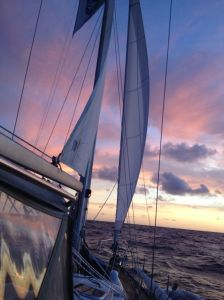 49. Joyful was awed by another beautiful sunset in the South Pacific.
