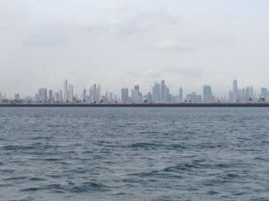 5. View of Panama City fom Isla Flamenco.