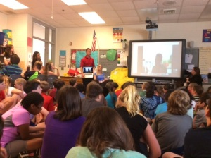 55. Round Hill Elementary School students Skyped with students from the Nuku Hiva school, C.E.D. St. Joseph.