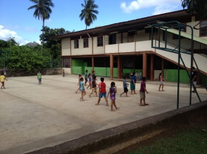 57. The St Joseph Elementary School of Nuku Hiva, minutes before the  Skype session with Round Hill Elementary School in Round Hill, Virginia.