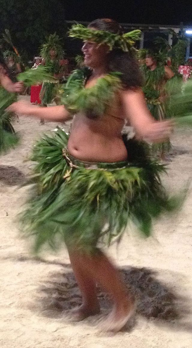 4. All the dancers, like this colorful Tiipoto dancer, immensly enjoyed performing in the annual Heiva competition.  They are everyday people from Bora Bora, not professional dancers!