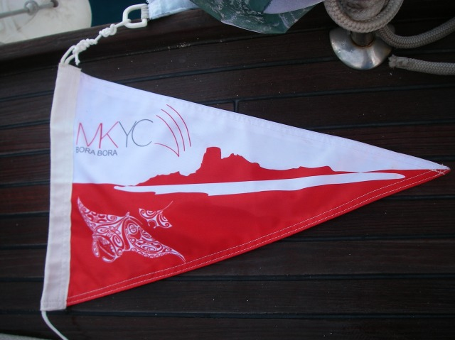 45. Teiva honored Joyful by making her a member of the MaiKai Yacht Club.  Joyful proudly flies the pennant!