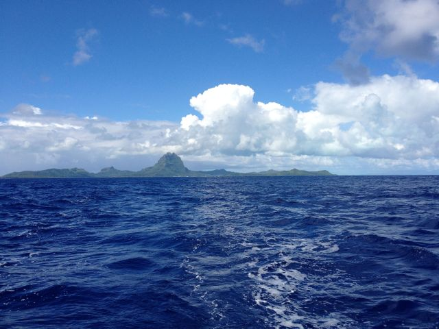 63. Fairwell Bora Bora!  We love you! We left Joyful's wake and good new friends behind