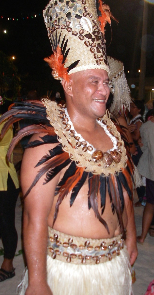 9. Nunue's leader, Tietu, wore feathers, shells, and fibers from Bora Bora.  He was an excellent, powerful, effective, and dedicated leader of the Nunue dance troup.