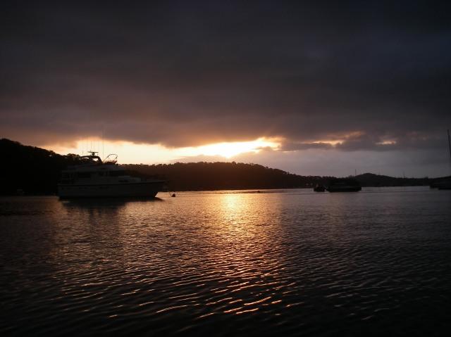 10. Pittwater sunrise from Joyful at her mooring.JPG