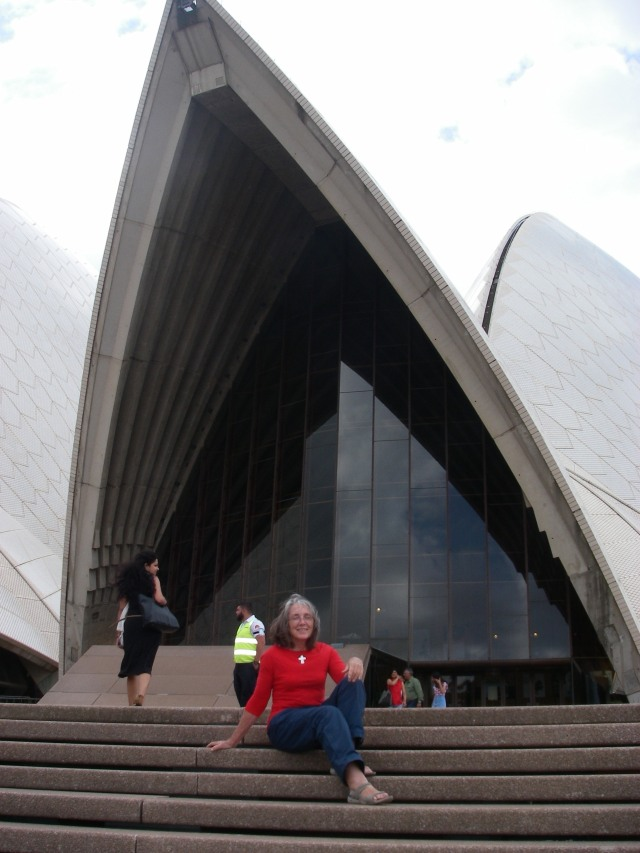 101.2. I thought the Sydney Opera House would be a perfect home! Here I am relaxing on my front verandah!