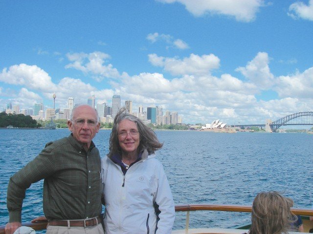 37. Jeff and Anne on a ferry boat to Sydney
