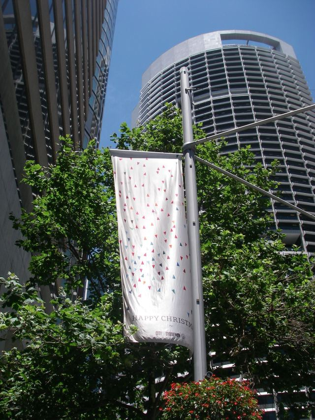 45. The City of Sydney was proud to display Happy Christmas banners and Christmas trees celebrating the birth of Christ