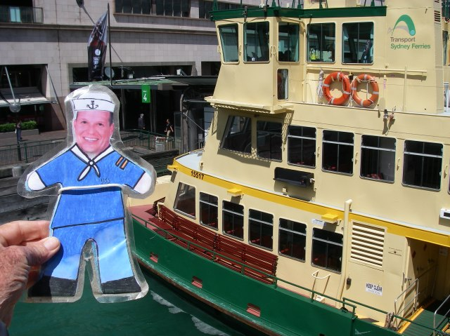 68.1. Flat Mr. Davis rides a ferry boat like this one to Sydney Harbour
