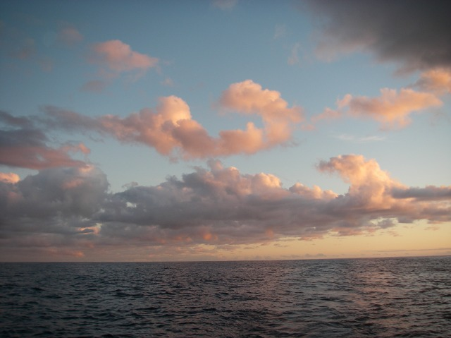 76. Another exordinarily beautiful sky greeted Joyful on the Tasman Sea